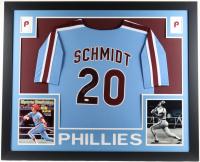 Mike Schmidt Signed 35x43 Custom Framed Jersey Display (JSA Hologram) at PristineAuction.com