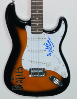 """Pete Best Signed Full-Size Electric Guitar Inscribed """"The Beatles"""" & """"Hamburg 1960"""" (JSA COA) at PristineAuction.com"""