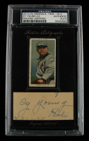 Cy Young 2013 Historic Autographs Signed Cut Display with 1909-1912 Card (PSA Encapsulated) at PristineAuction.com