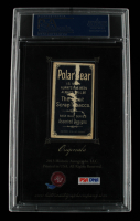 Walter Johnson 2013 Historic Autographs Signed Cut Display with 1909-1912 Card (PSA Encapsulated) at PristineAuction.com