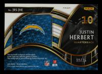 Justin Herbert 2020 Select Jumbo Rookie Signature Swatches Prizm Neon Orange Pulsar #4 #19/25 at PristineAuction.com