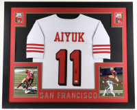 Brandon Aiyuk Signed 35x43 Custom Framed Jersey Display (Beckett COA) (See Description) at PristineAuction.com