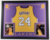 Kobe Bryant 35x43 Custom Framed Jersey Display at PristineAuction.com