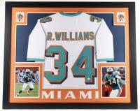 Ricky Williams Signed 35x43 Custom Framed Jersey Display (Beckett Hologram) at PristineAuction.com