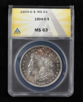 1904-O Morgan Silver Dollar (ANACS MS63) (Toned) at PristineAuction.com