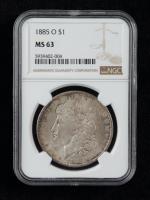 1885-O Morgan Silver Dollar (NGC MS63) (Toned) at PristineAuction.com