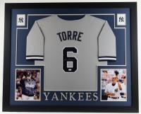 Joe Torre Signed 35x43 Custom Framed Jersey Display (JSA Hologram) at PristineAuction.com