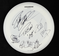 """""""Poison"""" 15"""" Drum Head Band-Signed by (5) with Brett Michaels, C. C. DeVille, Bobby Dall, Rikki Rockett Inscribed """"Poison 08'""""(JSA LOA) at PristineAuction.com"""