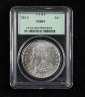 1886 Morgan Silver Dollar (PCGS MS64) OGH at PristineAuction.com