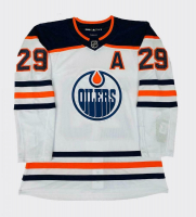 """Leon Draisaitl Signed LE Oilers Jersey Inscribed """"2020 Hart & Art Ross"""" (Fanatics Hologram) at PristineAuction.com"""