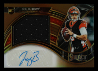 Joe Burrow 2020 Select Jumbo Rookie Signature Swatches Prizm Copper #4 #12/25 at PristineAuction.com