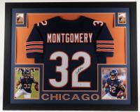 David Montgomery Signed 35x43 Custom Framed Jersey Display (Beckett COA) at PristineAuction.com
