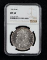 1885-O Morgan Silver Dollar (NGC MS63) at PristineAuction.com
