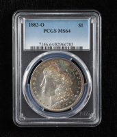 1883-O Morgan Silver Dollar (PCGS MS64) (Toned) at PristineAuction.com
