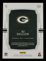 A. J. Dillon 2020 Panini National Treasures Stars and Stripes Premium #181 Jersey Autograph #2/3 at PristineAuction.com