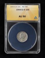 1944-D/D Mercury Silver Dime (ANACS AU50) at PristineAuction.com