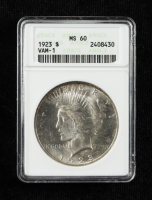 1923 Peace Silver Dollar VAM-1 (ANACS MS60) at PristineAuction.com