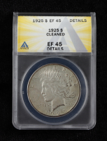1925 Peace Silver Dollar (Cleaned - ANAC EF 45 Details) at PristineAuction.com