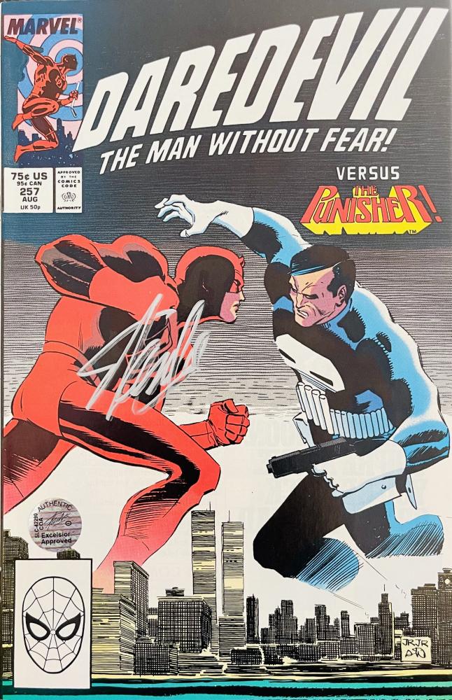 "Stan Lee Signed 1988 ""Daredevil"" Issue #257 Marvel Comic Book (Lee Hologram) at PristineAuction.com"