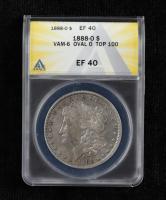 1888-O Morgan Silver Dollar VAM-6 Oval O Top 100 (ANACS XF40) at PristineAuction.com