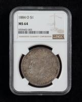 1884-O Morgan Silver Dollar (NGC MS64) (Toned) at PristineAuction.com
