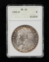 1902-O Morgan Silver Dollar (ANACS MS63) (Toned) at PristineAuction.com