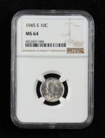 1945-S Mercury Silver Dime (NGC MS64) at PristineAuction.com