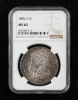 1882-S Morgan Silver Dollar (NGC MS63) (Toned) at PristineAuction.com
