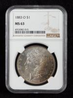 1883-O Morgan Silver Dollar (NGC MS63) (Toned) at PristineAuction.com