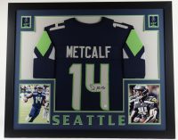DK Metcalf Signed 35x43 Custom Framed Jersey Display (Beckett COA) at PristineAuction.com