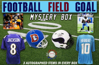 Schwartz Sports Football Field Goal Mystery Box - Series 6 (Limited to 150) (3 Autographed Items per Box) at PristineAuction.com
