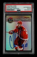 Chris Chelios Signed 1999-00 Pacific Prism #49 (PSA Encapsulated) at PristineAuction.com