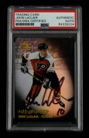 John LeClair Signed 1995-96 Summit Mad Hatters #3 (PSA Encapsulated) at PristineAuction.com