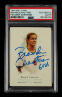 """Brandi Chastain Signed 2006 Topps Allen & Ginter #304 Inscribed """"USA"""" (PSA Encapsulated) at PristineAuction.com"""