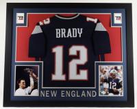 Tom Brady 35x43 Custom Framed Jersey Display at PristineAuction.com