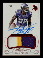 Adrian Peterson 2015 Panini Flawless Greats Patches Autographs Ruby #GPAAP #12/15 at PristineAuction.com