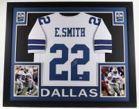 Emmitt Smith Signed 35x43 Custom Framed Jersey Display (Beckett COA & Prova Hologram) at PristineAuction.com