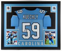 Luke Kuechly Signed 35x43 Custom Framed Jersey Display (Beckett COA) at PristineAuction.com