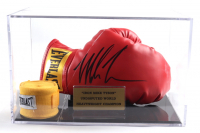 Mike Tyson Signed Vintage Everlast Leather Boxing Glove with Display Case (PSA COA) (See Description) at PristineAuction.com