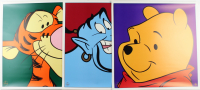 Set of (3) 1997 Disney Character LE 23x23 Lithographs with Winnie the Pooh, Tigger & The Genie with Disney Seals (See Description) at PristineAuction.com