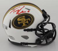 Trey Lance Signed 49ers Lunar Eclipse Alternate Speed Mini Helmet (Beckett Hologram) at PristineAuction.com