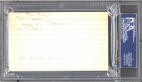 Don Budge Signed 3x5 Index Card (PSA Encapsulated) at PristineAuction.com