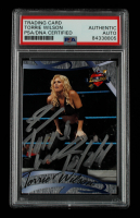 Torrie Wilson Signed 2004 Fleer WWE Divine Divas 2005 #34 With Inscription (PSA Encapsulated) at PristineAuction.com