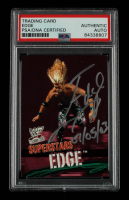 """Edge Signed 2010 Topps WWE #58 Inscribed """"07/05/03"""" (PSA Encapsulated) at PristineAuction.com"""
