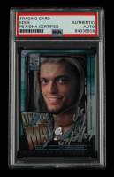 """Edge Signed 2002 Fleer WWF All Access #5 OTM Inscribed """"07/05/03"""" (PSA Encapsulated) at PristineAuction.com"""