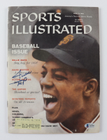 """Willie Mays Signed """"Sports Illustrated"""" Magazine (Beckett LOA) (See Description) at PristineAuction.com"""