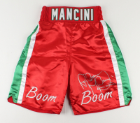 "Ray ""Boom Boom"" Mancini Signed Boxing Trunks (PSA COA) at PristineAuction.com"