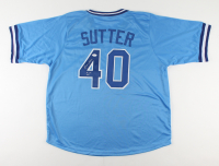 "Bruce Sutter Signed Jersey Inscribed ""H.O.F. 06"" (JSA COA) at PristineAuction.com"