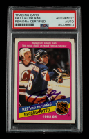 Pat LaFontaine Signed 1984-85 O-Pee-Chee #392 RB (PSA Encapsulated) at PristineAuction.com