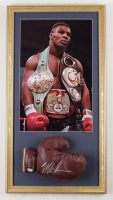 Mike Tyson Signed 15x28 Custom Framed Vintage Spalding Boxing Glove Display (PSA COA) at PristineAuction.com